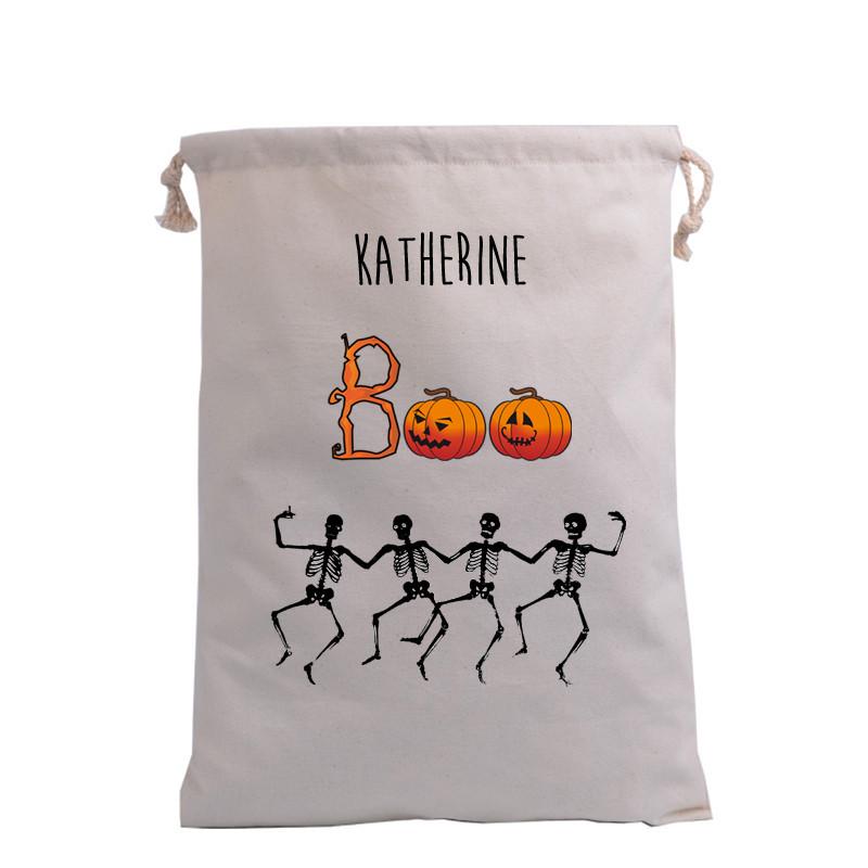 BOO & Dancing Skeleton Trick or Treat Bag