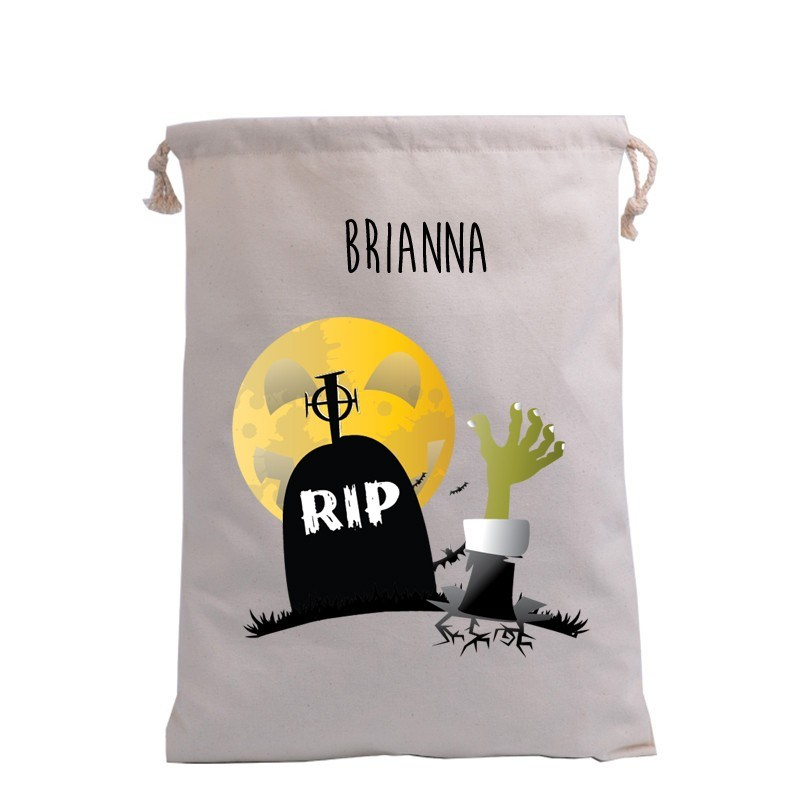 Grave with hand Trick or Treat Bag