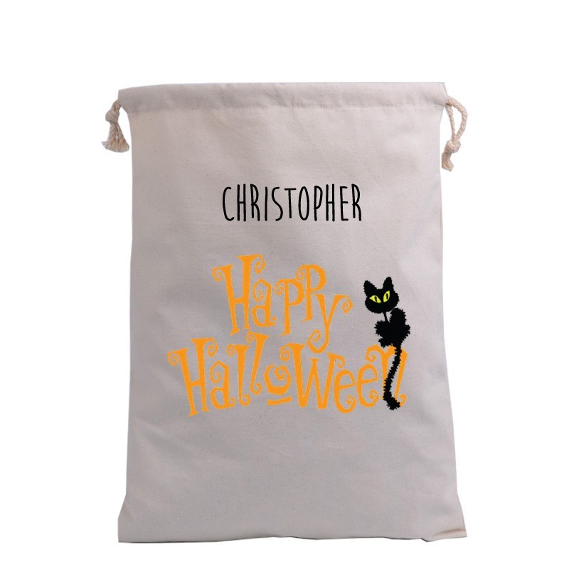 Happy Halloween with Cat Trick or Treat Bag