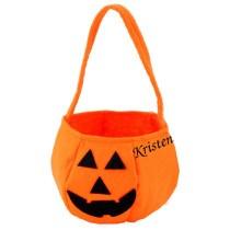 Classic Pumpkin Felt Bucket