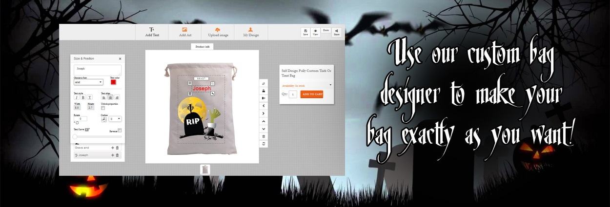 Design Your Own Trick Or Treat Bag